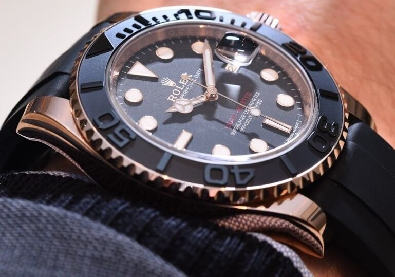 Rose Gold Replica Rolex Yacht-Master 116655 and 268655