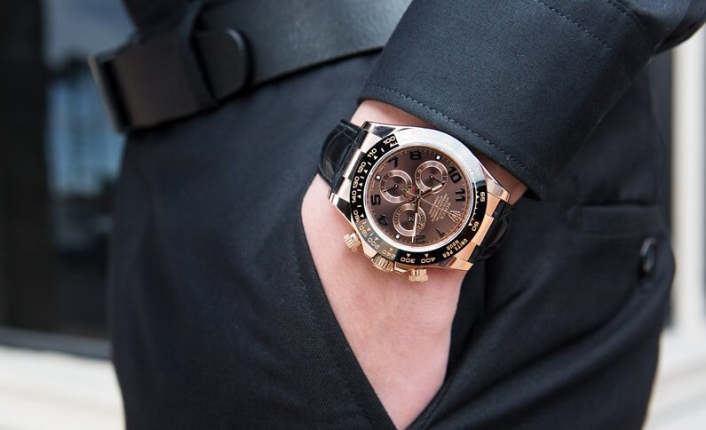 Rose gold Replica Rolex Daytona 116515LN
