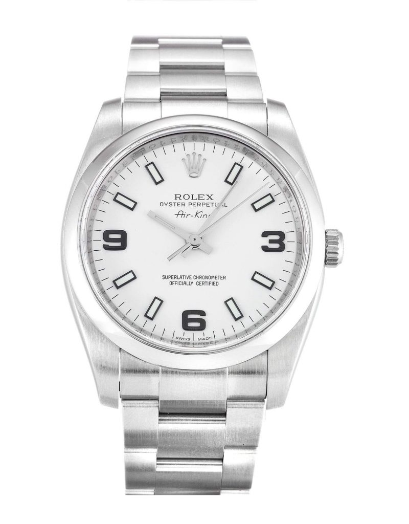 White Rolex Replica Air-King 114200 34MM White Dial